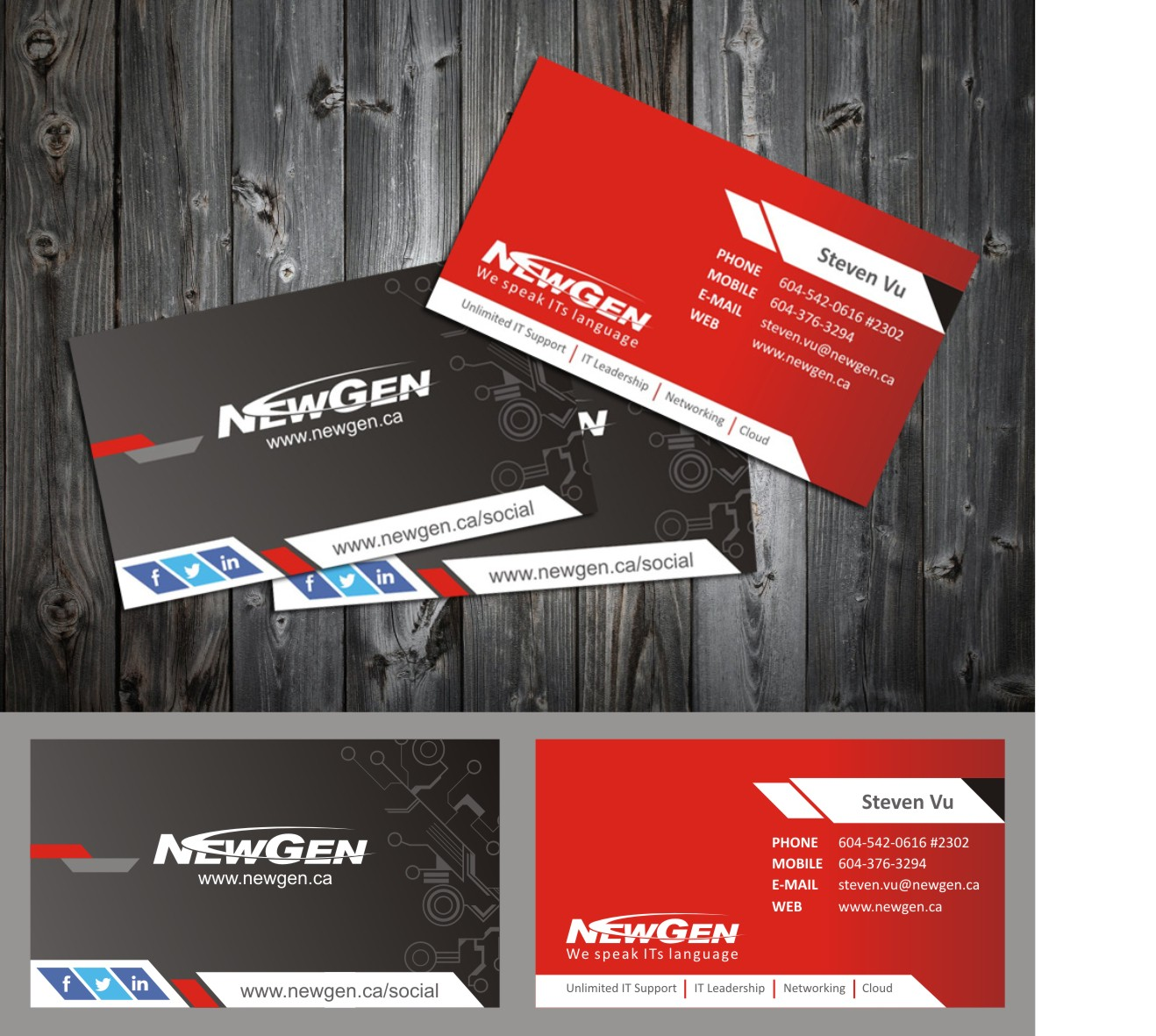 Business Card Design by arteo_design - Entry No. 157 in the Business Card Design Contest Inspiring Business Card Design for NewGen Technologies.