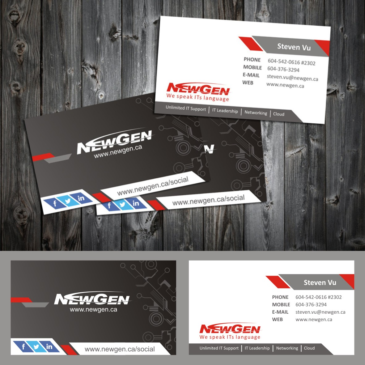 Business Card Design by arteo_design - Entry No. 158 in the Business Card Design Contest Inspiring Business Card Design for NewGen Technologies.