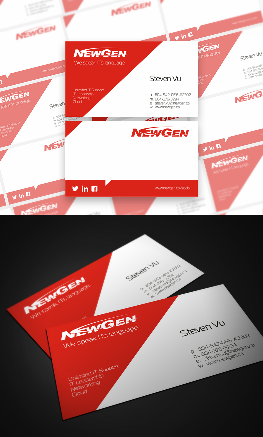 Business Card Design by Private User - Entry No. 177 in the Business Card Design Contest Inspiring Business Card Design for NewGen Technologies.