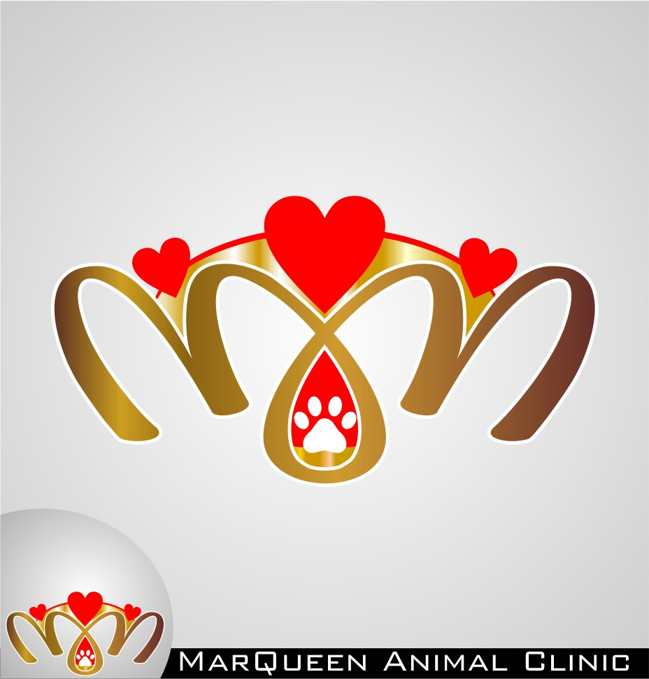 Logo Design by Crispin Jr Vasquez - Entry No. 94 in the Logo Design Contest Fun Logo Design for MarQueen Animal Clinic.