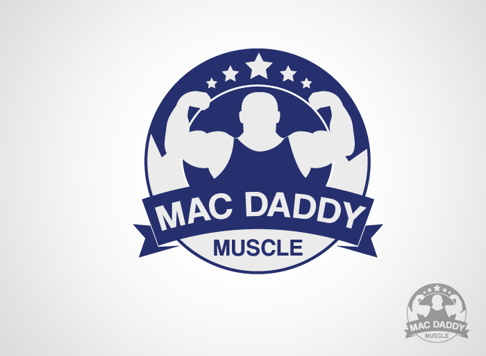 Logo Design by Jan Chua - Entry No. 6 in the Logo Design Contest New Logo Design for Mac Daddy Muscle.