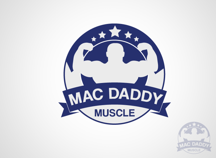 Logo Design by Jan Chua - Entry No. 7 in the Logo Design Contest New Logo Design for Mac Daddy Muscle.