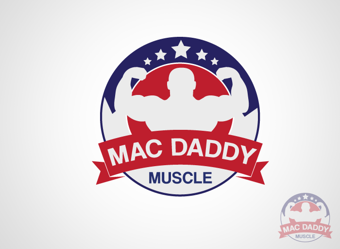 Logo Design by Jan Chua - Entry No. 8 in the Logo Design Contest New Logo Design for Mac Daddy Muscle.