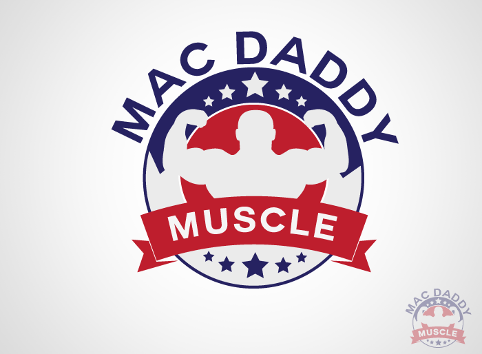 Logo Design by Jan Chua - Entry No. 9 in the Logo Design Contest New Logo Design for Mac Daddy Muscle.
