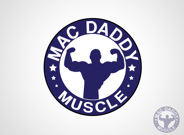 Logo Design by Jan Chua - Entry No. 10 in the Logo Design Contest New Logo Design for Mac Daddy Muscle.