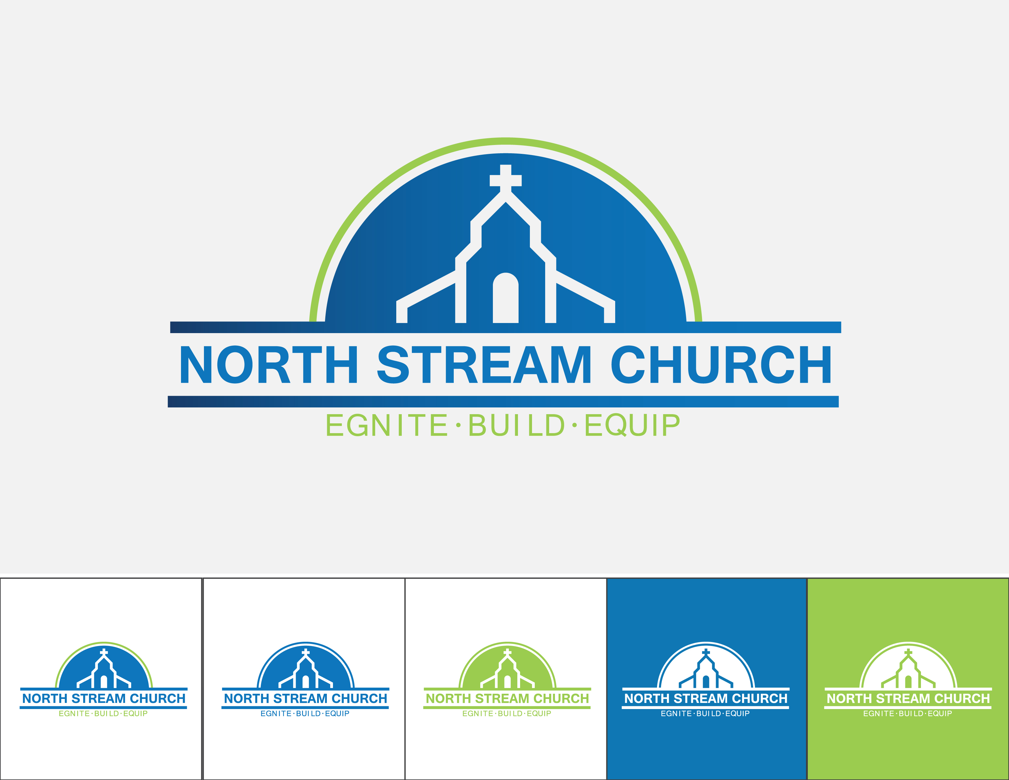Logo Design by Quirejun Akol - Entry No. 55 in the Logo Design Contest Creative Logo Design for North Stream Church.