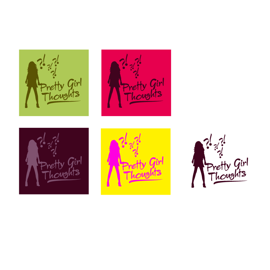 Logo Design by danelav - Entry No. 16 in the Logo Design Contest Inspiring Logo Design for Pretty Girl Thoughts.