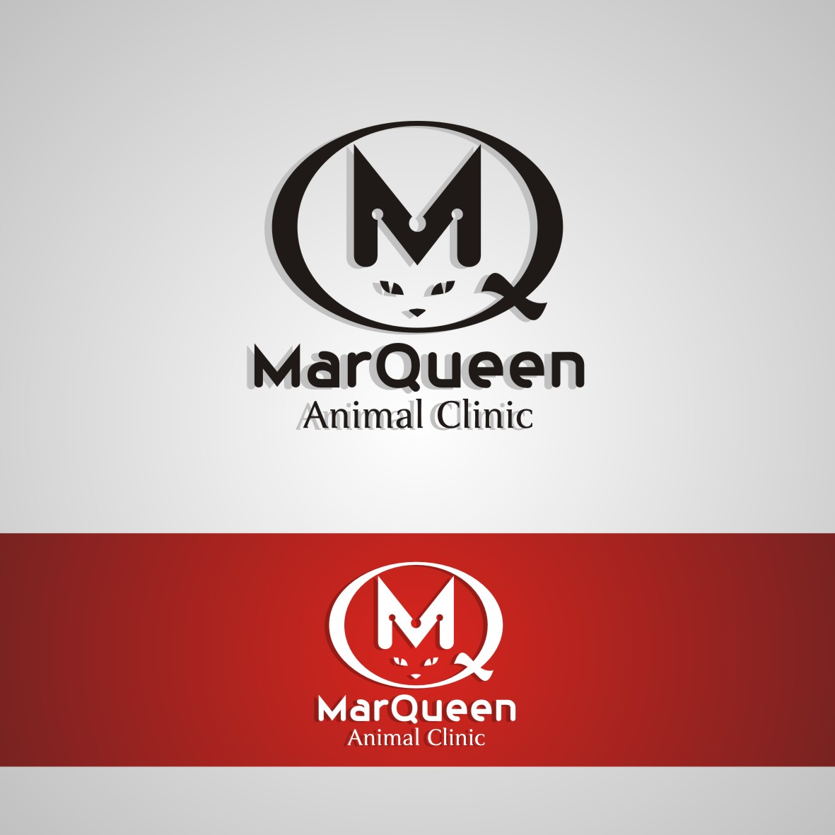 Logo Design by arteo_design - Entry No. 111 in the Logo Design Contest Fun Logo Design for MarQueen Animal Clinic.