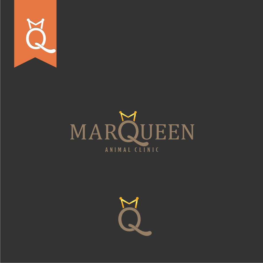Logo Design by graphicleaf - Entry No. 112 in the Logo Design Contest Fun Logo Design for MarQueen Animal Clinic.