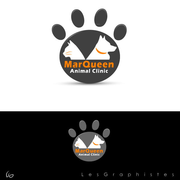 Logo Design by Les-Graphistes - Entry No. 121 in the Logo Design Contest Fun Logo Design for MarQueen Animal Clinic.