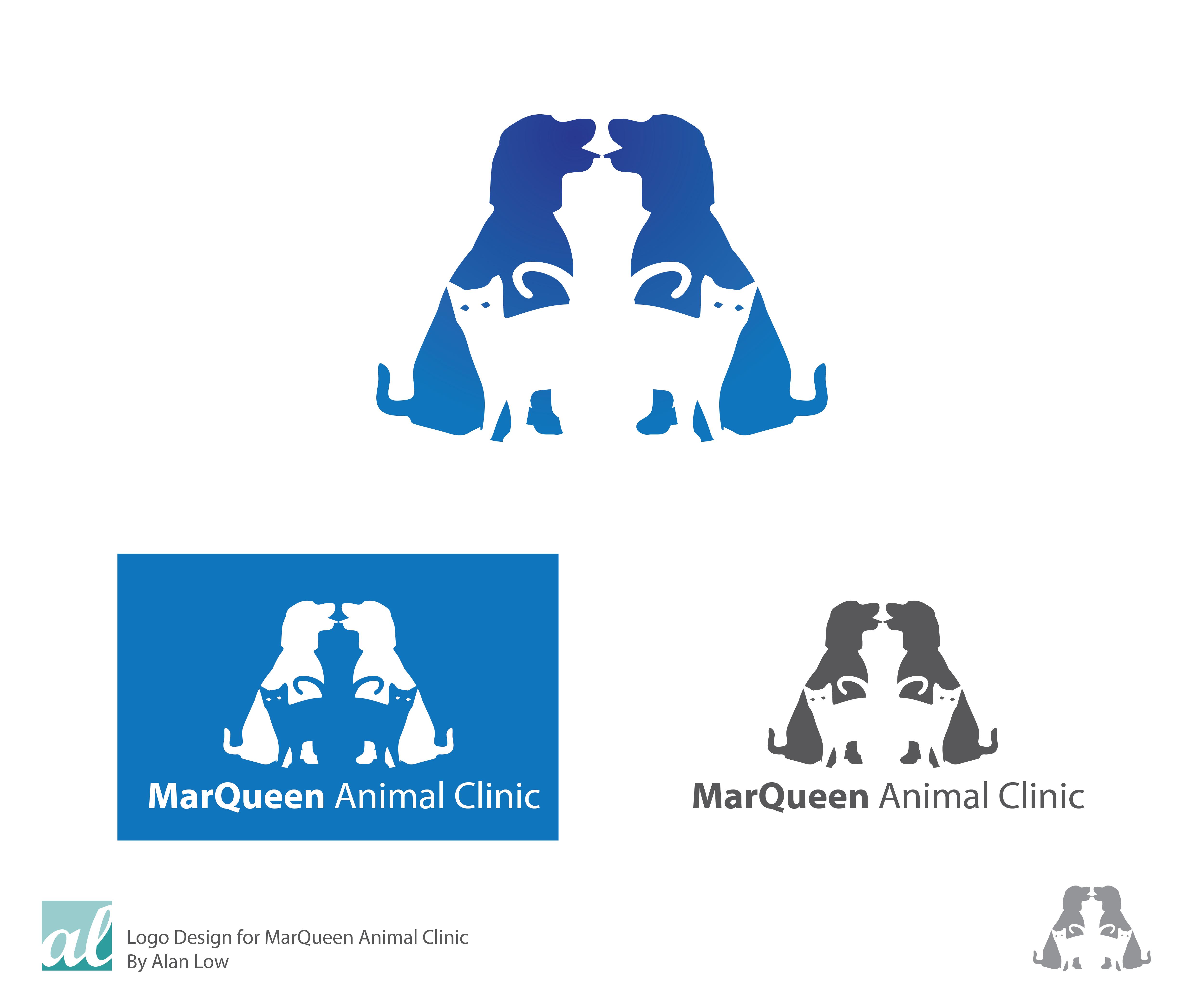 Logo Design by Alan Low - Entry No. 122 in the Logo Design Contest Fun Logo Design for MarQueen Animal Clinic.