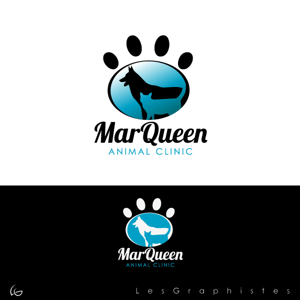 Logo Design by Les-Graphistes - Entry No. 125 in the Logo Design Contest Fun Logo Design for MarQueen Animal Clinic.