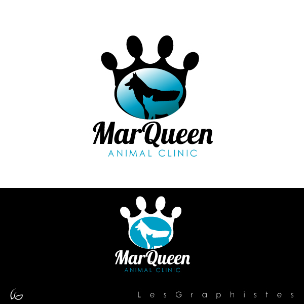 Logo Design by Les-Graphistes - Entry No. 126 in the Logo Design Contest Fun Logo Design for MarQueen Animal Clinic.