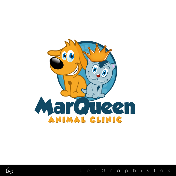 Logo Design by Les-Graphistes - Entry No. 127 in the Logo Design Contest Fun Logo Design for MarQueen Animal Clinic.