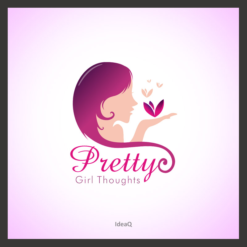 Logo Design by Private User - Entry No. 29 in the Logo Design Contest Inspiring Logo Design for Pretty Girl Thoughts.