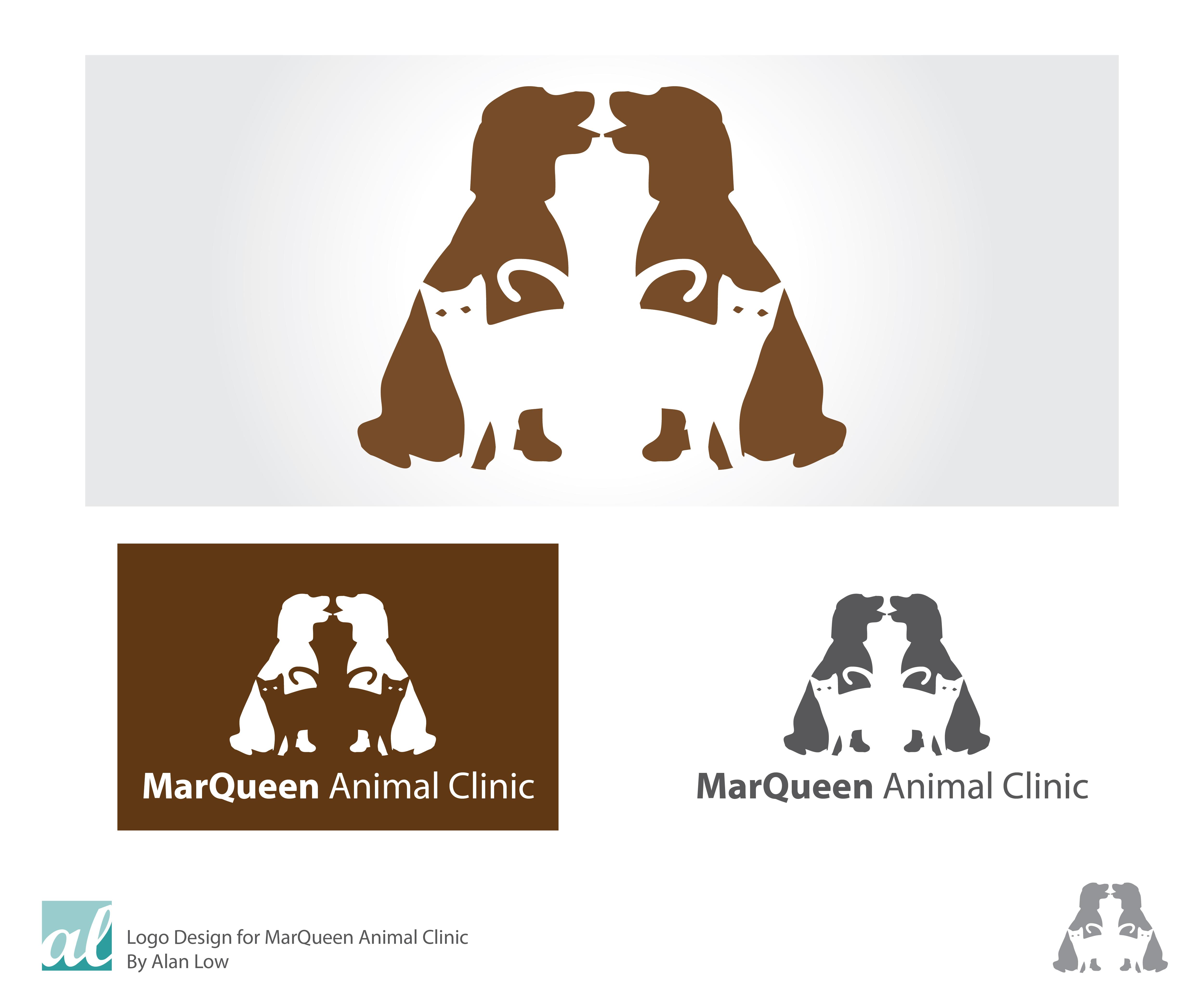Logo Design by Alan Low - Entry No. 134 in the Logo Design Contest Fun Logo Design for MarQueen Animal Clinic.