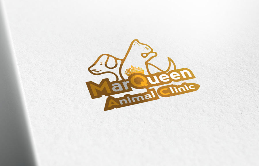 Logo Design by Adnan Younus - Entry No. 165 in the Logo Design Contest Fun Logo Design for MarQueen Animal Clinic.