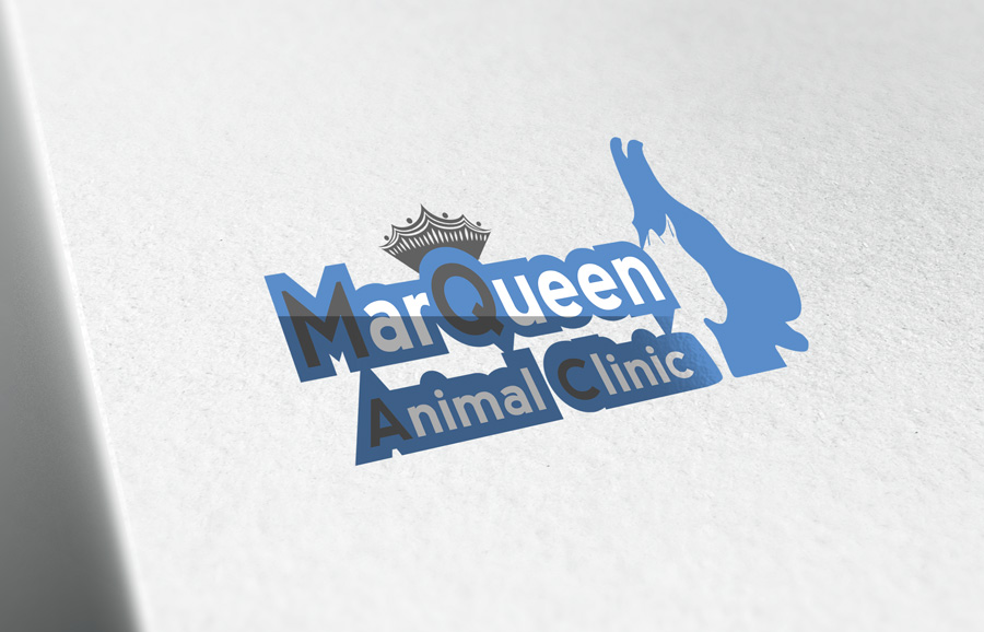 Logo Design by Adnan Younus - Entry No. 166 in the Logo Design Contest Fun Logo Design for MarQueen Animal Clinic.