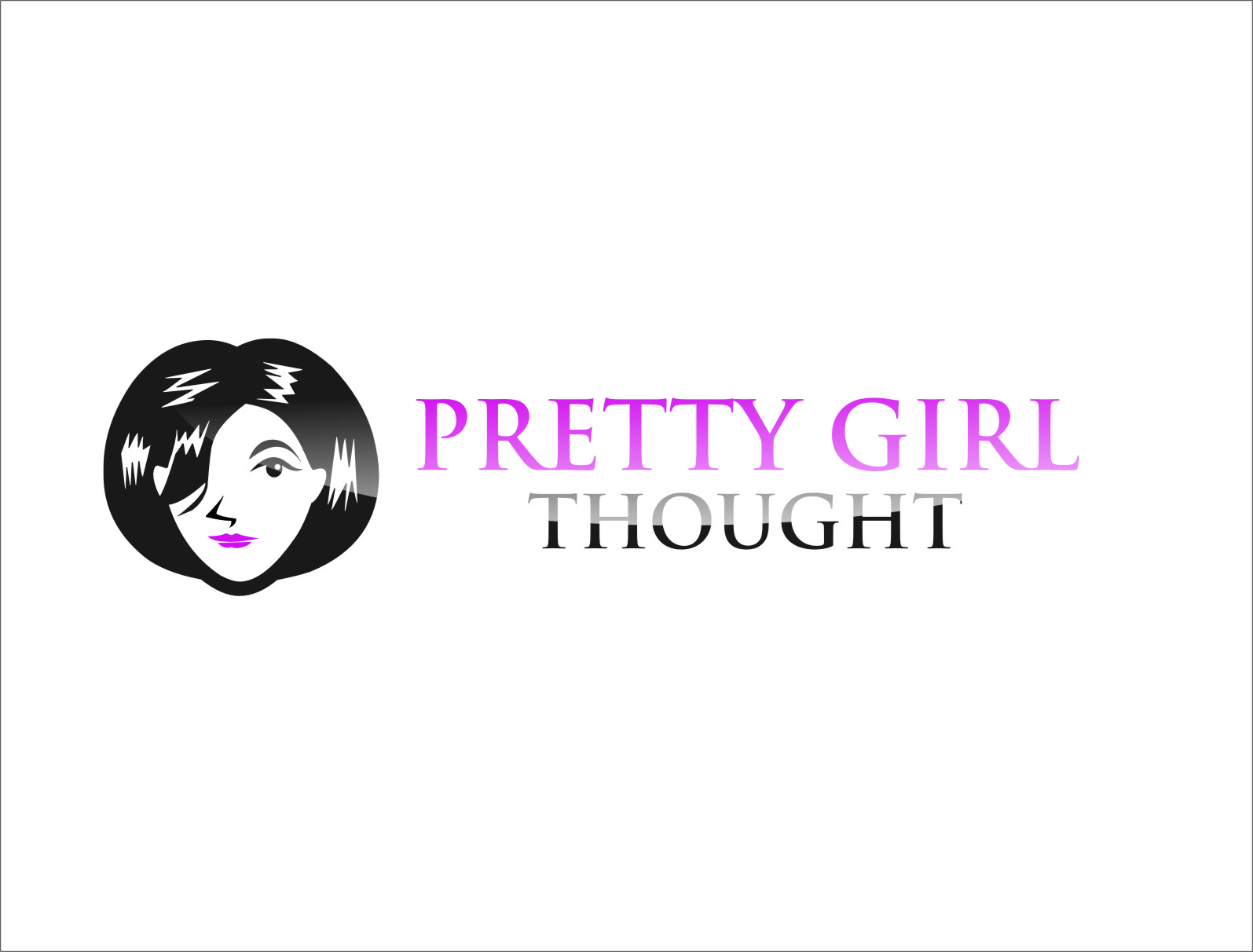 Logo Design by RasYa Muhammad Athaya - Entry No. 40 in the Logo Design Contest Inspiring Logo Design for Pretty Girl Thoughts.
