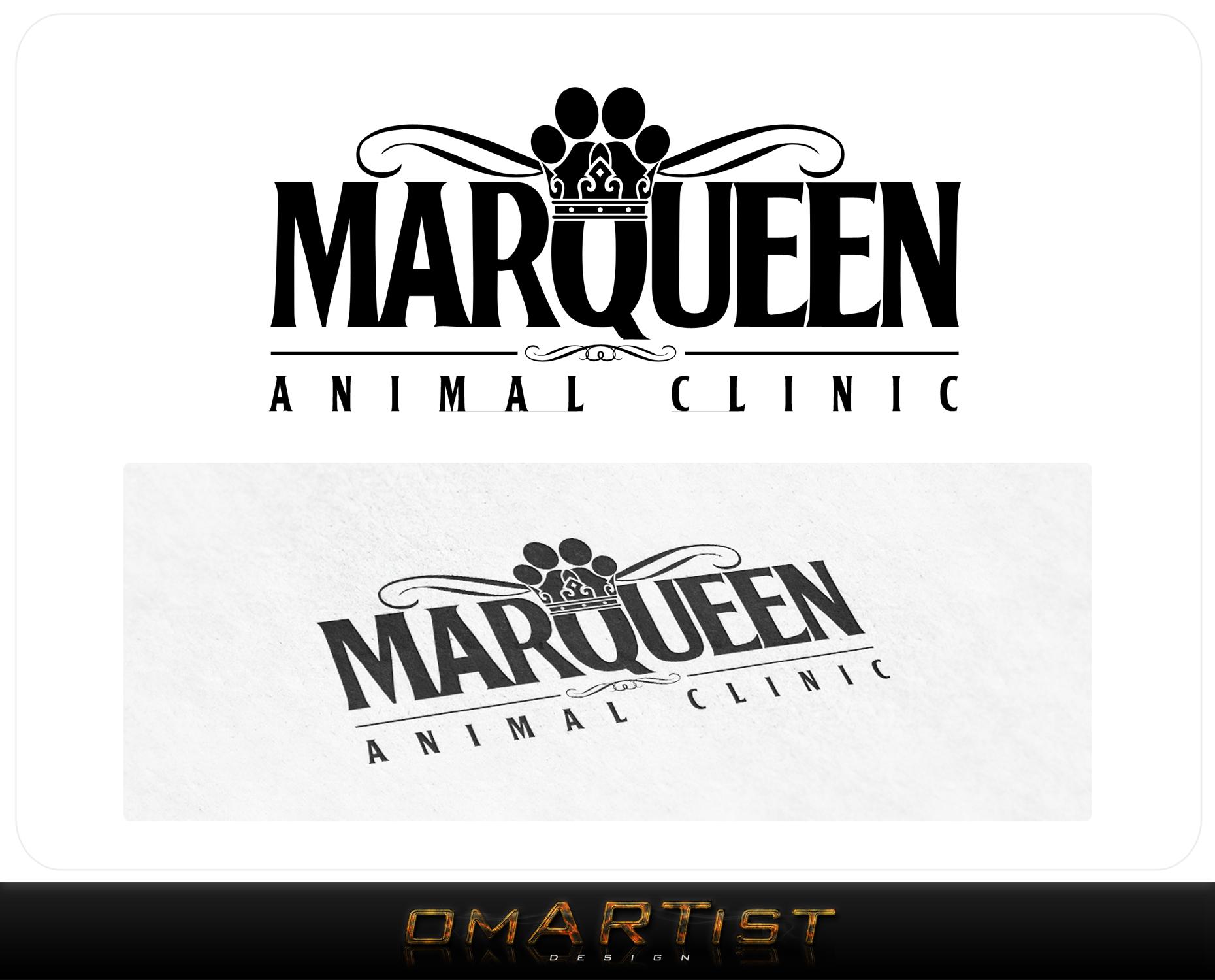Logo Design by omARTist - Entry No. 169 in the Logo Design Contest Fun Logo Design for MarQueen Animal Clinic.