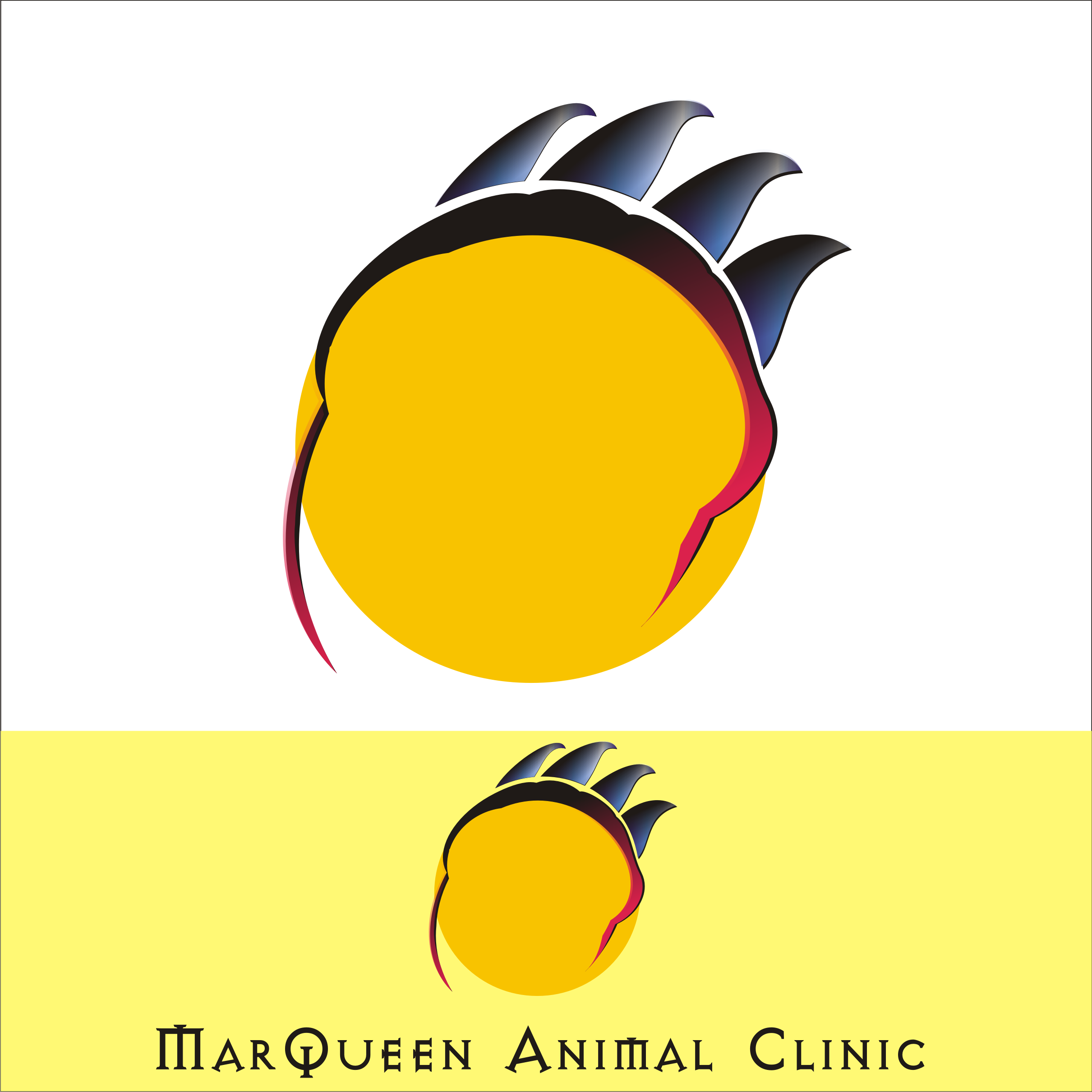 Logo Design by Private User - Entry No. 174 in the Logo Design Contest Fun Logo Design for MarQueen Animal Clinic.