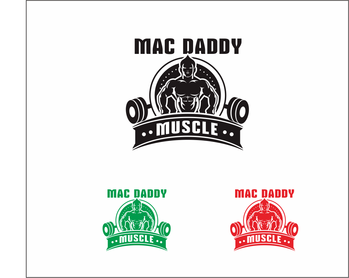 Logo Design by Armada Jamaluddin - Entry No. 41 in the Logo Design Contest New Logo Design for Mac Daddy Muscle.