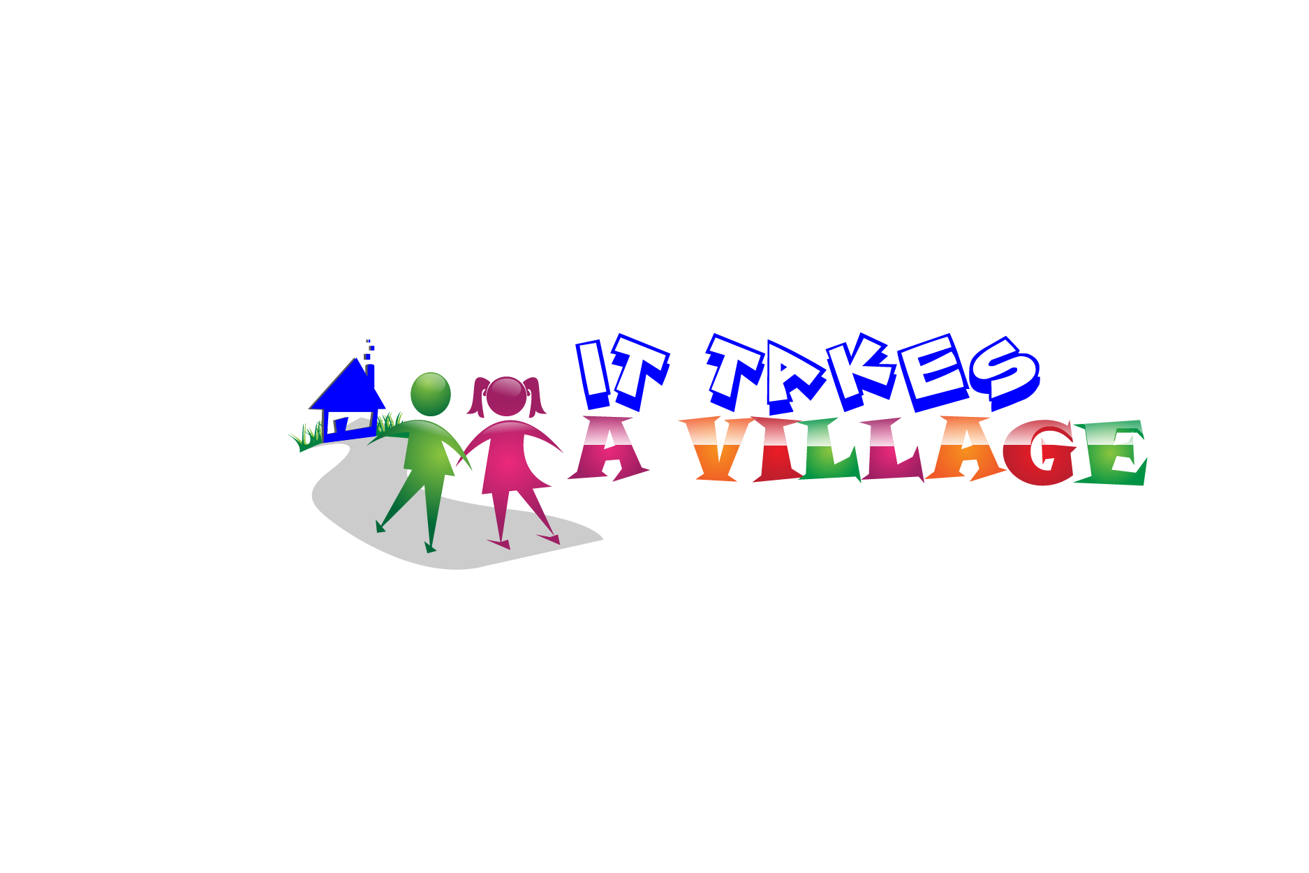 Logo Design by brands_in - Entry No. 8 in the Logo Design Contest Captivating Logo Design for It Takes A Village.