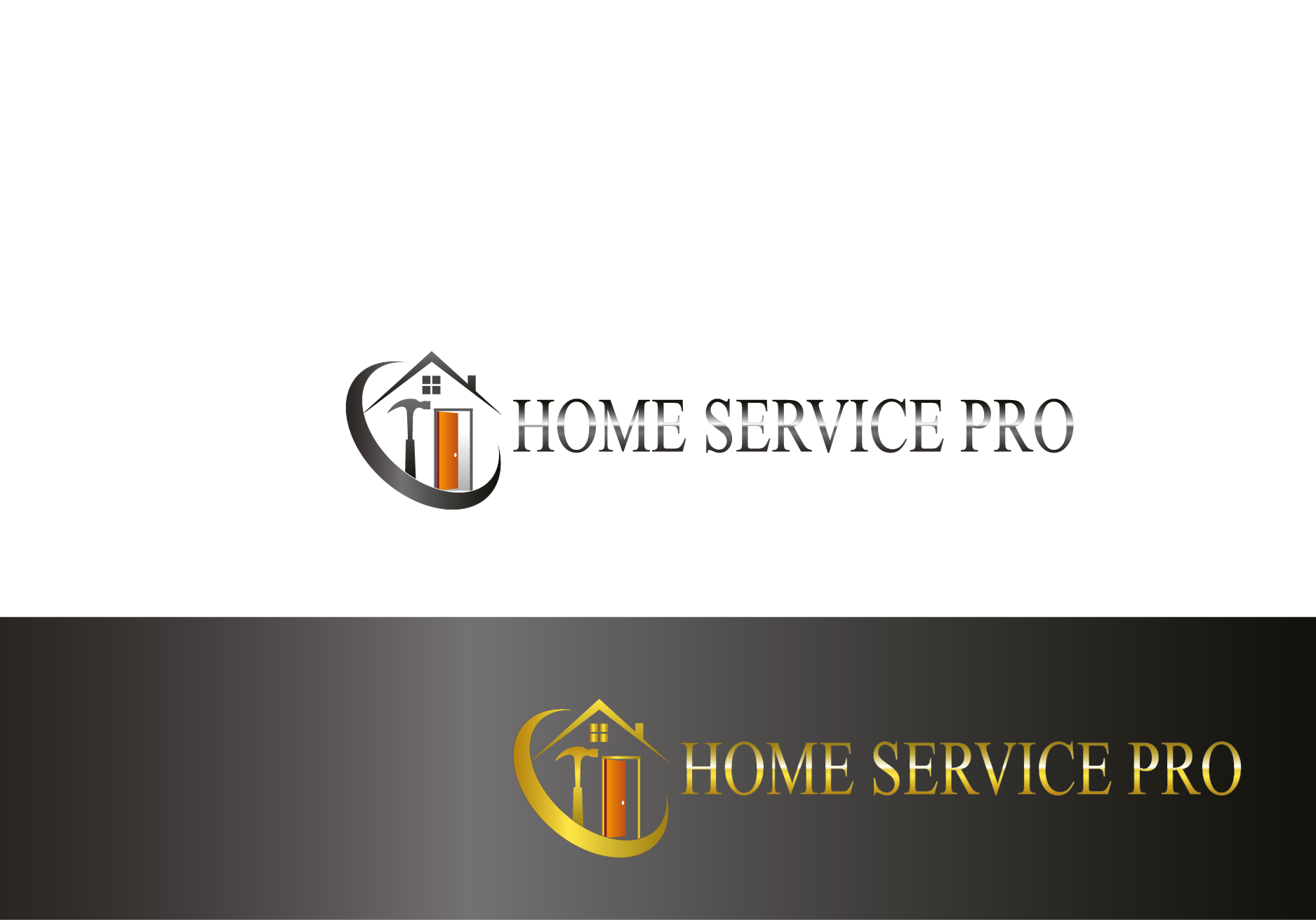 Logo Design by Private User - Entry No. 4 in the Logo Design Contest Captivating Logo Design for Home Services Pro   / HomeServicesPro.com.