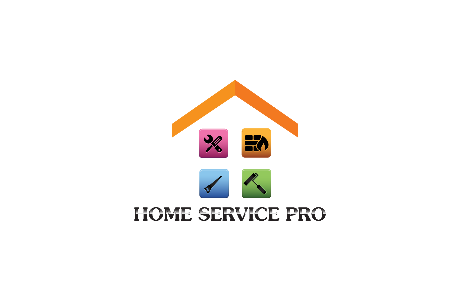 Logo Design by Private User - Entry No. 6 in the Logo Design Contest Captivating Logo Design for Home Services Pro   / HomeServicesPro.com.