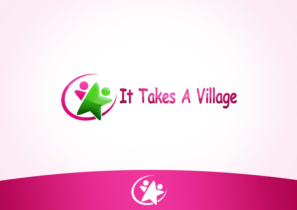 Logo Design by Respati Himawan - Entry No. 9 in the Logo Design Contest Captivating Logo Design for It Takes A Village.