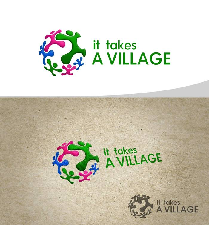 Logo Design by Respati Himawan - Entry No. 16 in the Logo Design Contest Captivating Logo Design for It Takes A Village.