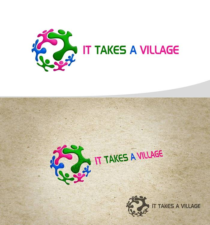 Logo Design by Respati Himawan - Entry No. 17 in the Logo Design Contest Captivating Logo Design for It Takes A Village.