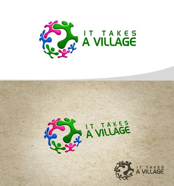 Logo Design by Respati Himawan - Entry No. 18 in the Logo Design Contest Captivating Logo Design for It Takes A Village.