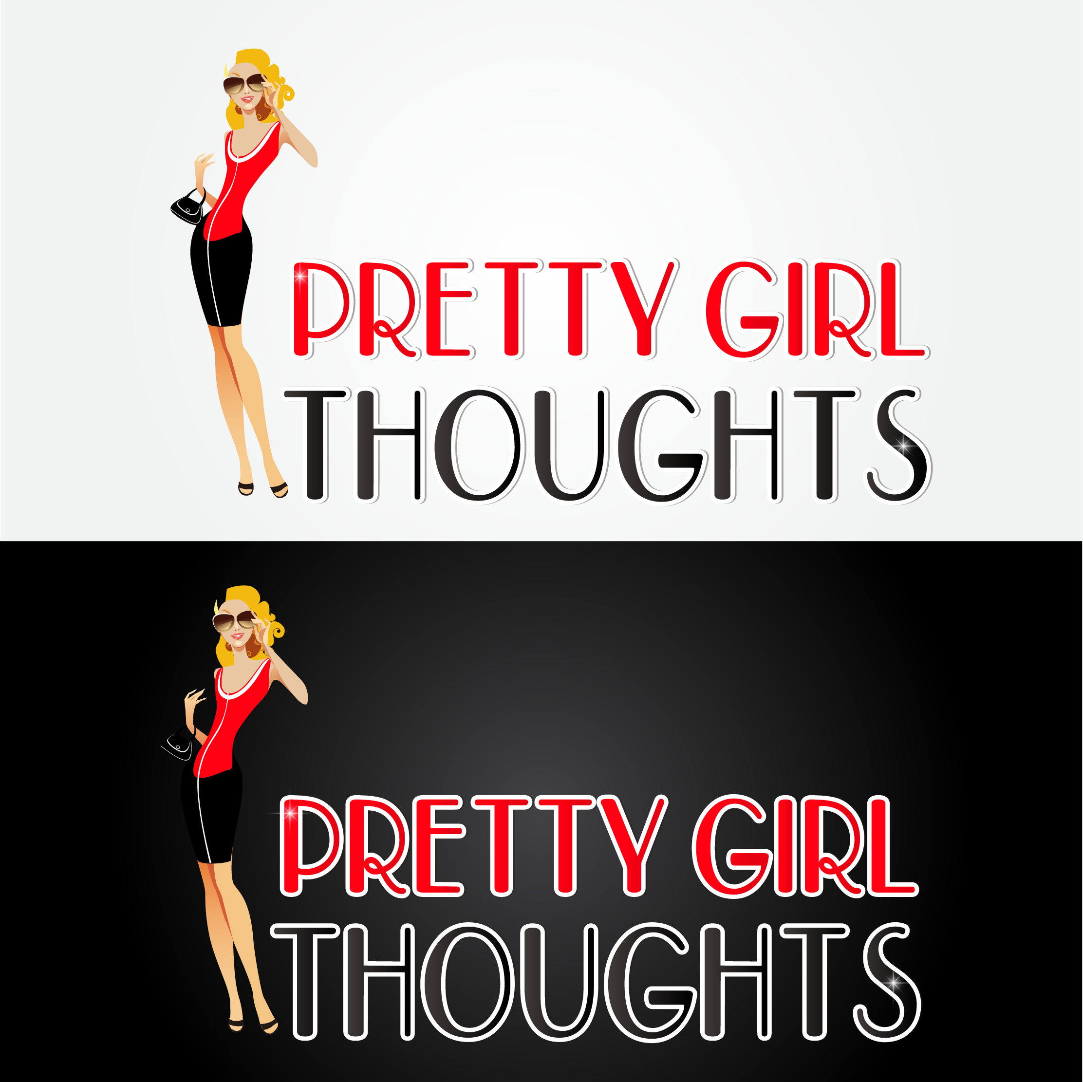 Logo Design by mediaproductionart - Entry No. 55 in the Logo Design Contest Inspiring Logo Design for Pretty Girl Thoughts.