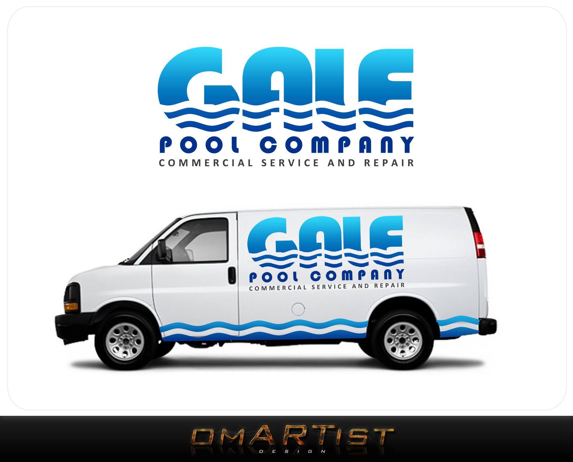 Logo Design by omARTist - Entry No. 1 in the Logo Design Contest Imaginative Logo Design for Gale Pool Company.