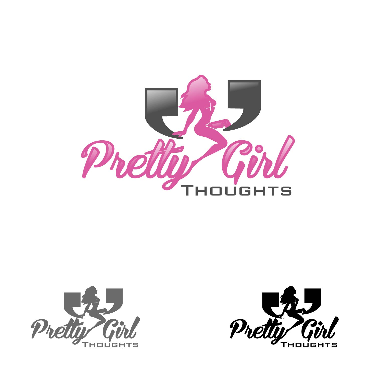 Logo Design by lagalag - Entry No. 58 in the Logo Design Contest Inspiring Logo Design for Pretty Girl Thoughts.