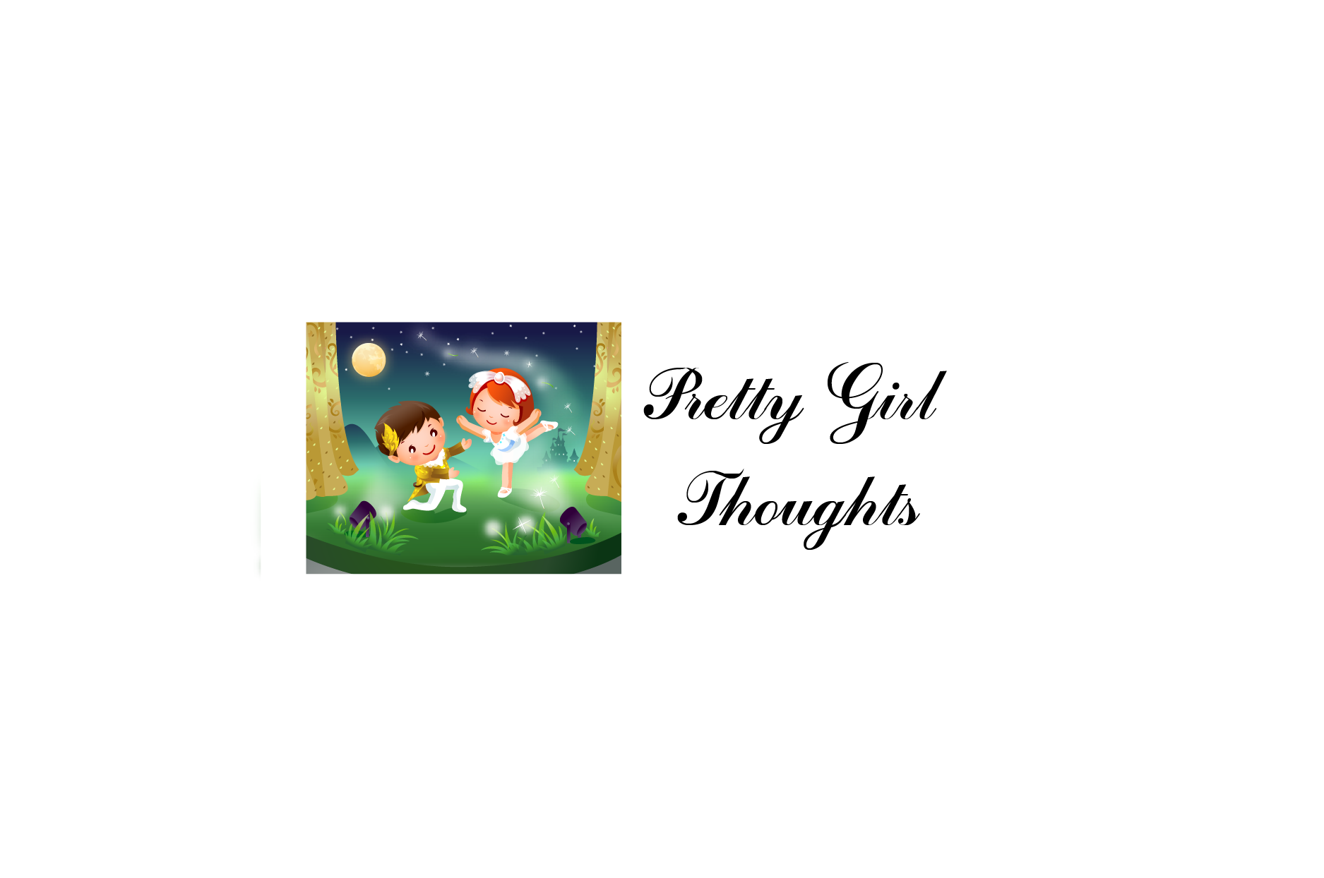Logo Design by brands_in - Entry No. 61 in the Logo Design Contest Inspiring Logo Design for Pretty Girl Thoughts.