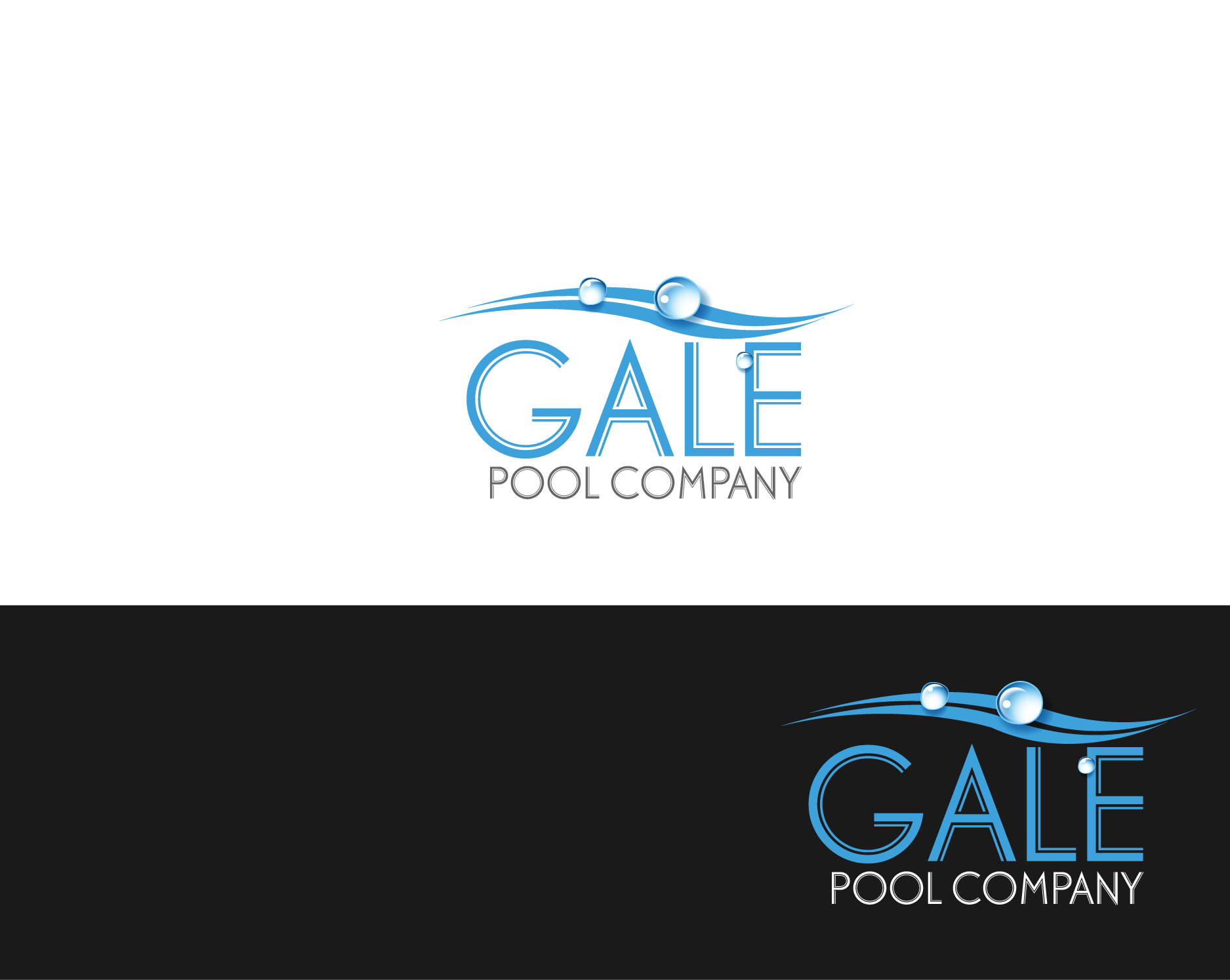 Logo Design by Private User - Entry No. 2 in the Logo Design Contest Imaginative Logo Design for Gale Pool Company.