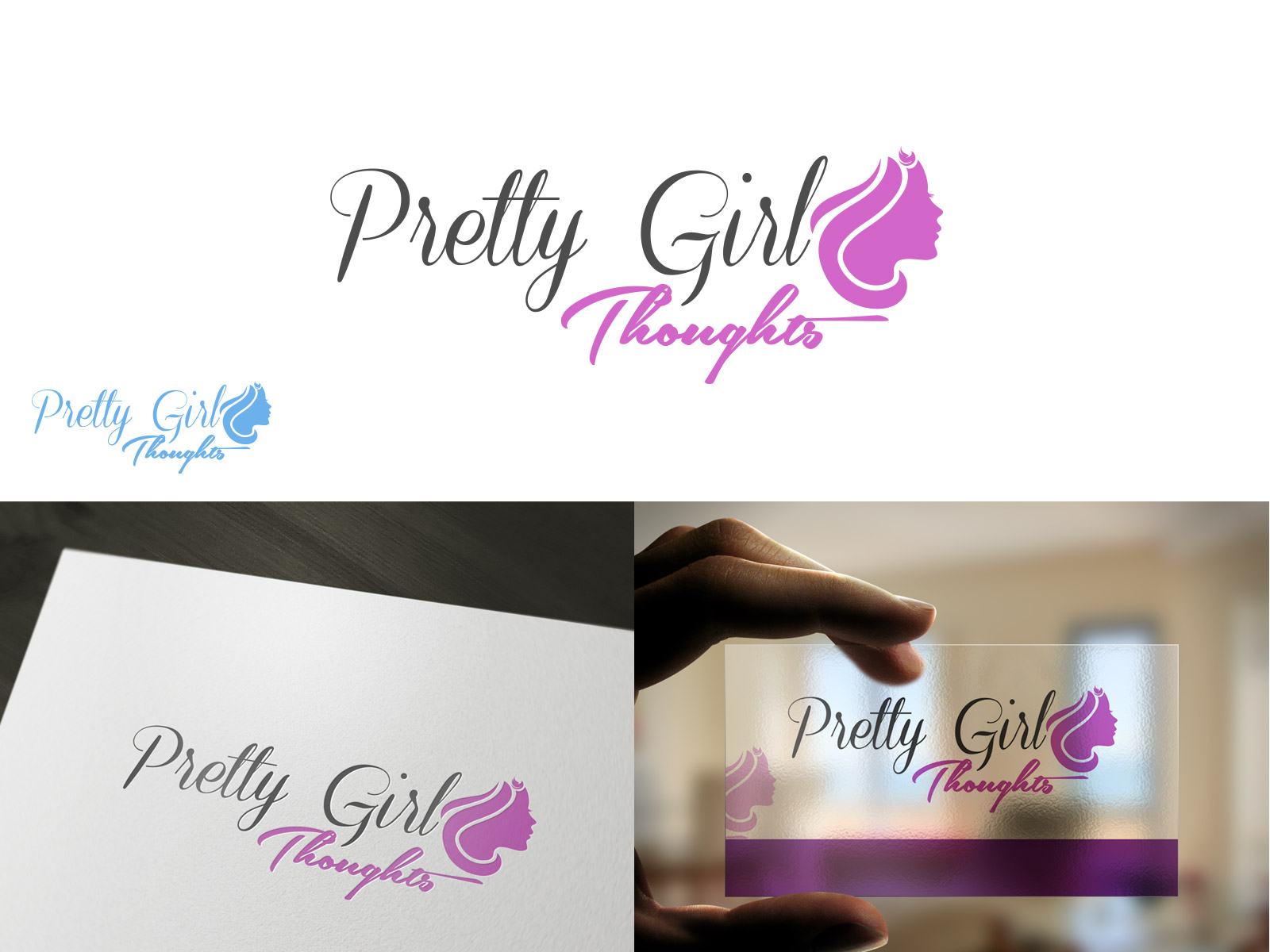 Logo Design by olii - Entry No. 63 in the Logo Design Contest Inspiring Logo Design for Pretty Girl Thoughts.