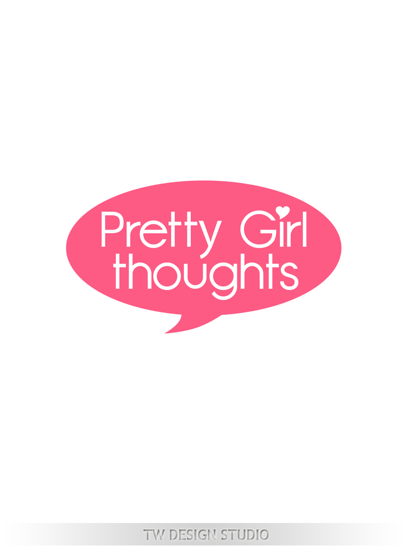 Logo Design by Private User - Entry No. 65 in the Logo Design Contest Inspiring Logo Design for Pretty Girl Thoughts.