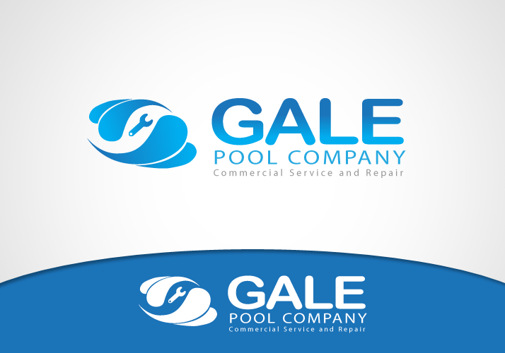 Logo Design by Jan Chua - Entry No. 13 in the Logo Design Contest Imaginative Logo Design for Gale Pool Company.