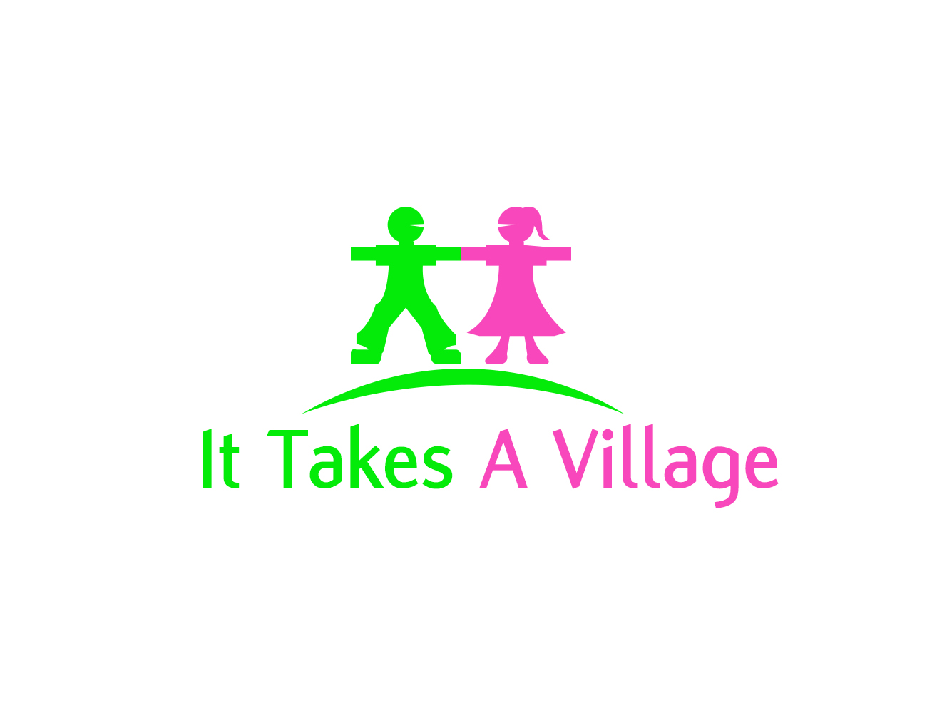 Logo Design by fireacefist - Entry No. 29 in the Logo Design Contest Captivating Logo Design for It Takes A Village.