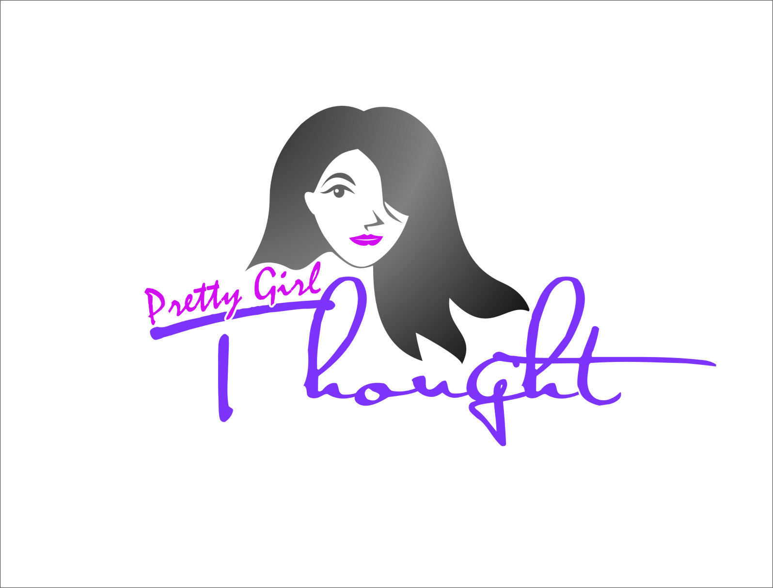 Logo Design by RasYa Muhammad Athaya - Entry No. 68 in the Logo Design Contest Inspiring Logo Design for Pretty Girl Thoughts.