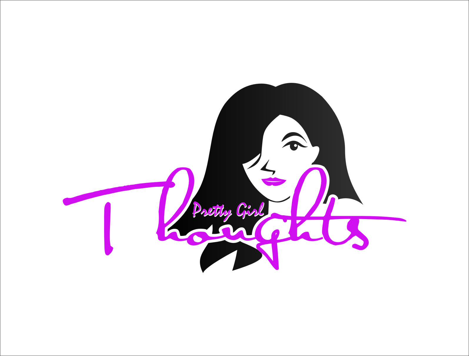 Logo Design by RasYa Muhammad Athaya - Entry No. 69 in the Logo Design Contest Inspiring Logo Design for Pretty Girl Thoughts.