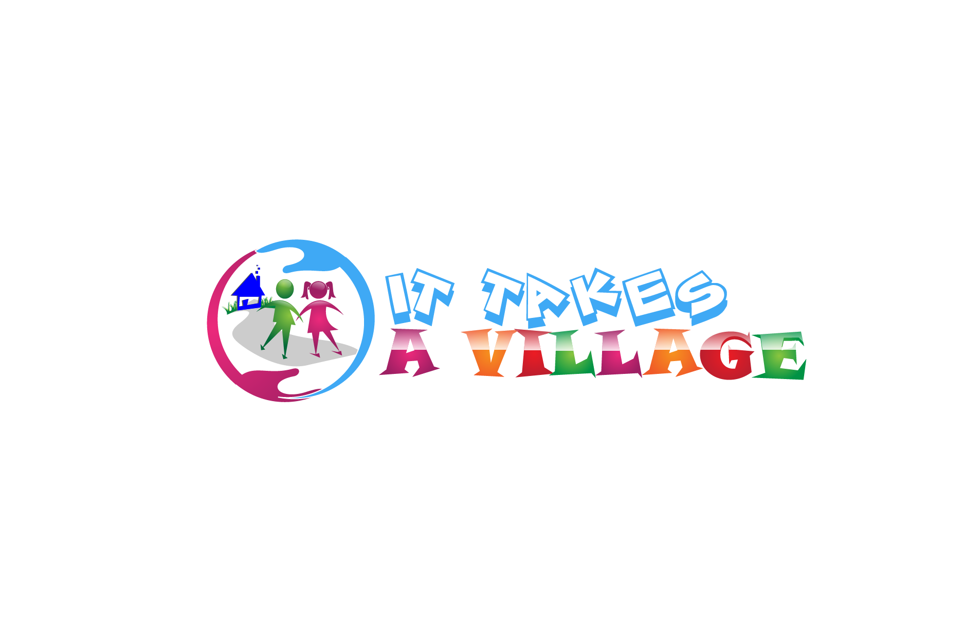 Logo Design by brands_in - Entry No. 31 in the Logo Design Contest Captivating Logo Design for It Takes A Village.
