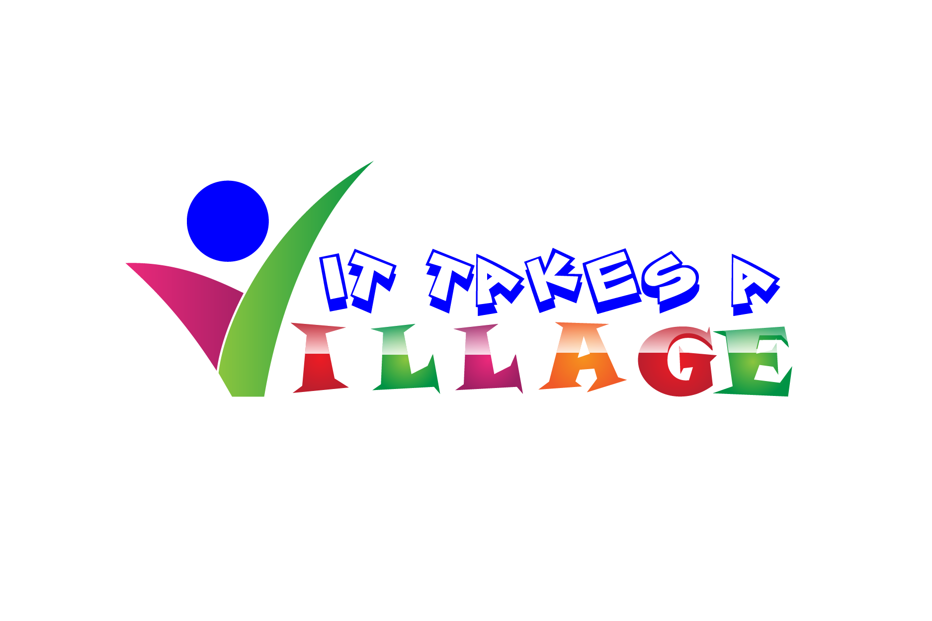 Logo Design by brands_in - Entry No. 32 in the Logo Design Contest Captivating Logo Design for It Takes A Village.