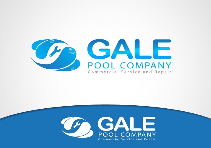 Logo Design by Jan Chua - Entry No. 17 in the Logo Design Contest Imaginative Logo Design for Gale Pool Company.