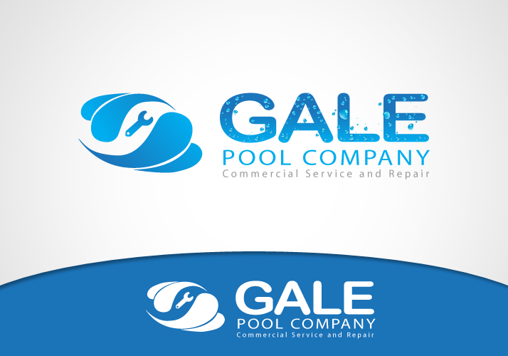 Logo Design by Jan Chua - Entry No. 18 in the Logo Design Contest Imaginative Logo Design for Gale Pool Company.