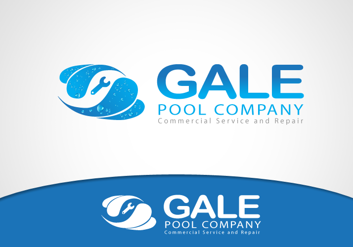 Logo Design by Jan Chua - Entry No. 19 in the Logo Design Contest Imaginative Logo Design for Gale Pool Company.