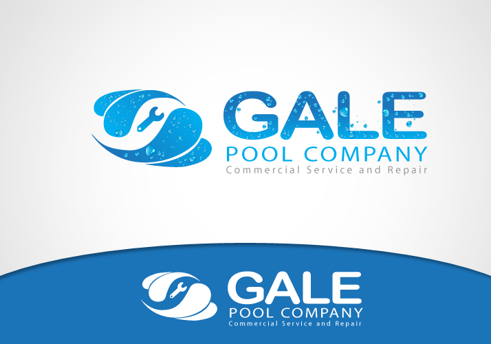 Logo Design by Jan Chua - Entry No. 20 in the Logo Design Contest Imaginative Logo Design for Gale Pool Company.
